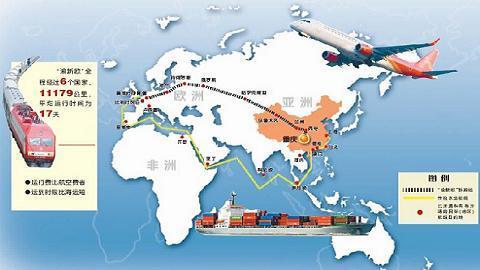 Tuyến đường tơ lụa trên đất liền và trên biển của Trung Quốc đang bao bọc cả châu Á và châu Âu