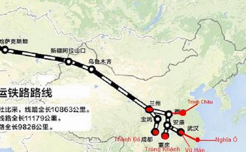 """Phần """"con đường tơ lụa"""" trên lục địa bên phần đất Trung Quốc"""