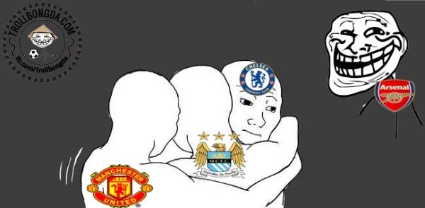 Fan Arsenal đang cười trên nỗi đau của các đại gia.