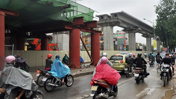 Thi công trở lại dự án đường sắt Cát Linh-Hà Đông