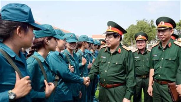 Đại tướng Phùng Quang Thanh kiểm tra các khối duyệt binh 30/4