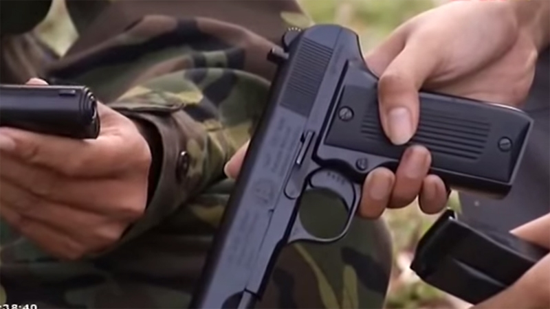 Đầu tiên phải kể đến là súng K-14 được sản xuất dựa trên nguyên mẫu súng ngắn K-54. Hiện nay, các khẩu súng ngắn K-54 trang bị trong quân đội chủ yếu do nước ngoài viện trợ từ những năm kháng chiến chống Mỹ cứu nước, qua thời gian dài sử dụng đã xuống cấp, không đạt chất lượng và thiếu hụt về số lượng.