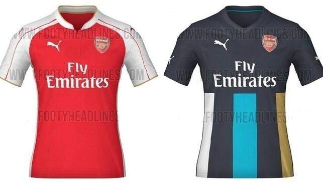 Áo đấu mùa sau của Arsenal tiếp tục được Puma thiết kế. Hãng thể thao Đức cho trình làng áo sân khách mới lạ với màu xanh navy chủ đạo kết hợp với các sọc trắng, xanh, vàng nổi bật. Bên cạnh đó áo đấu sân khách của Pháo thủ vẫn được thiết kế với tông màu đỏ trắng truyền thống kết hợp sọc kẻ nam tính