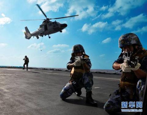 Hải quân Trung Quốc tập trận trên Vịnh Aden hồi đầu năm 2014.