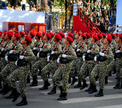 Khối sĩ quan Đặc công biệt động.