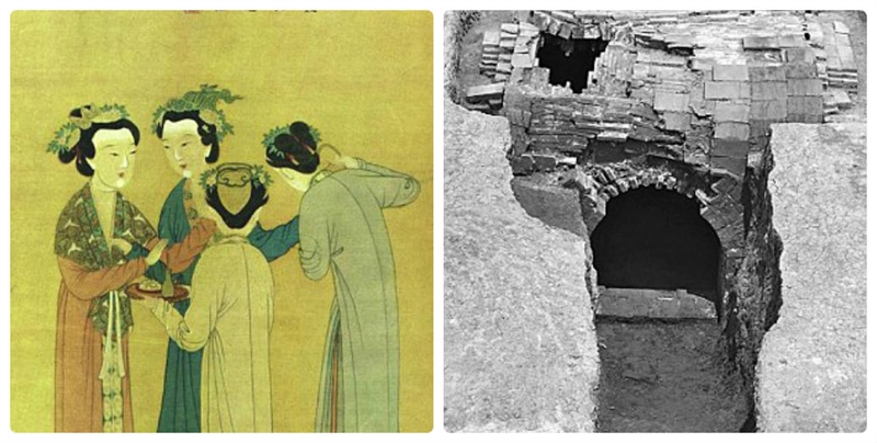 Ngôi mộ này được cho là đã 500 năm tuổi, trong ngôi mộ có chứa 2 bia đá ghi về cuộc sống của người phụ nữ tên Lady Mei, vợ lẽ của một vị quan và được miêu tả là một người phụ nữ \