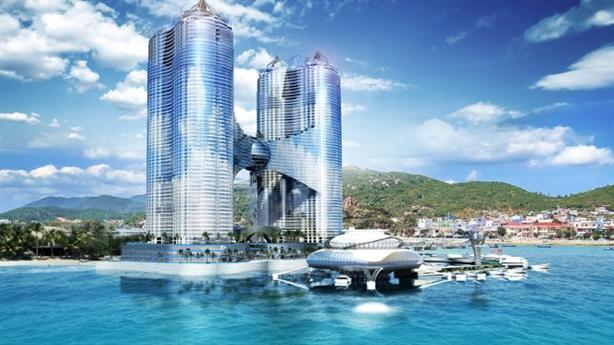 Tháp 65 tầng lấn biển Nha Trang: Được cấp phép lấn biển