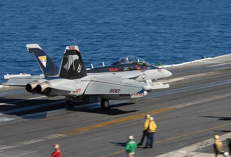 Vấn đề này đã được khắc phục ở mẫu máy bay kế nhiệm, do nó được xây dựng dựa trên khung máy bay phòng thủ F/A-18E/F Super Hornet đang sử dụng trong hải quân. Các máy bay E/A-18G Growler có khả năng tự bảo vệ mình bằng các tên lửa không đối không, do vậy không cần hộ tống bởi một chiến đấu cơ khác.