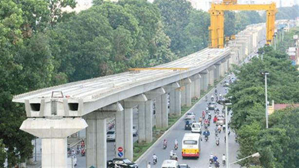 Vay TQ thêm 250 triệu USD cho đường sắt Cát Linh-Hà Đông