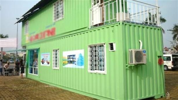 Nhà container 100 triệu đồng di chuyển được hút khách Sài Gòn