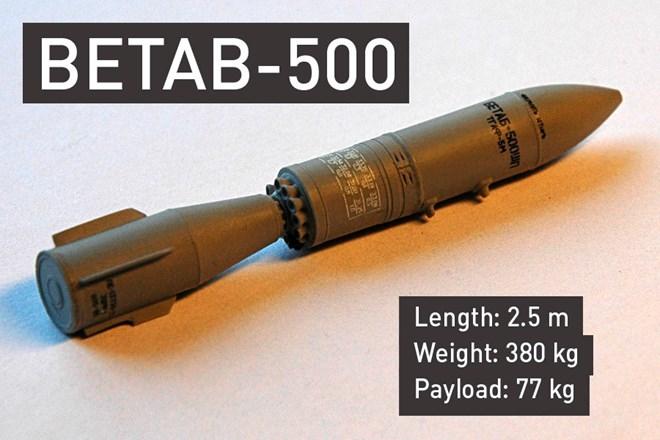 Được biết, Bom BETAB-500 được sử dụng để phá hủy các hầm ngầm được xây dựng kiên cố mà các loại bom thông thường không thể phá hủy.