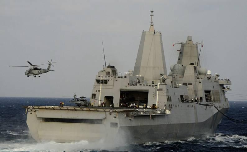 """Vị biên tập viên này dẫn lời các quan chức ngành công nghiệp quốc phòng Mỹ cho hay: """"Nếu được tháo dỡ hầm tàu, thân tàu USS San Antonio sẽ đủ rộng để bố trí các hệ thống radar phòng thủ tên lửa đạn đạo thế hệ mới""""."""