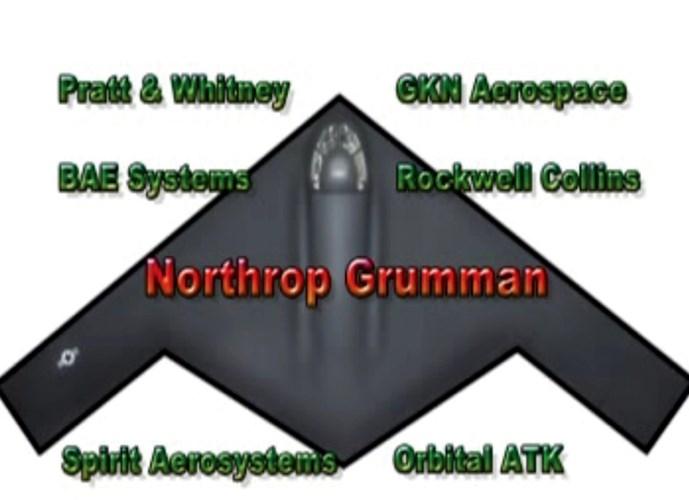 Quân đội Mỹ cũng đã lựa chọn 6 công ty hàng không phối hợp với Northrop Grumman để phát triển dự án này bao gồm: Pratt&Whitney, BAE Systems, Spirit Aerosystem, GKN Aerospace, Rockwell Collins và Orbital ATK.