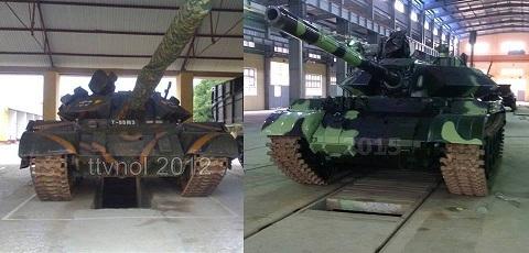 Pháo có cỡ nòng 105 mm, hơn một chút so với loại pháo 100 mm trên xe tăng T-54/55 chưa nâng cấp, nhưng vẫn đảm bảo cơ số đạn mà xe tăng mang theo. Ngoài ra, để tăng cường thêm hỏa lực tấn công, xe tăng T-54/55M3 cũng được lắp thêm một súng máy đồng trục PKT 7,62 mm. Theo Lenta, súng máy cũng do Việt Nam tự sản xuất.