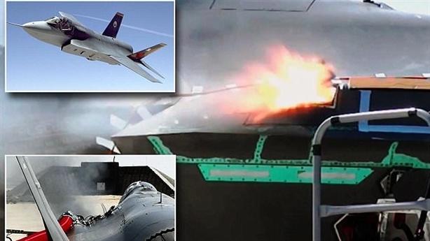 Ảnh nóng siêu pháo trên F-35 xé nát mục tiêu