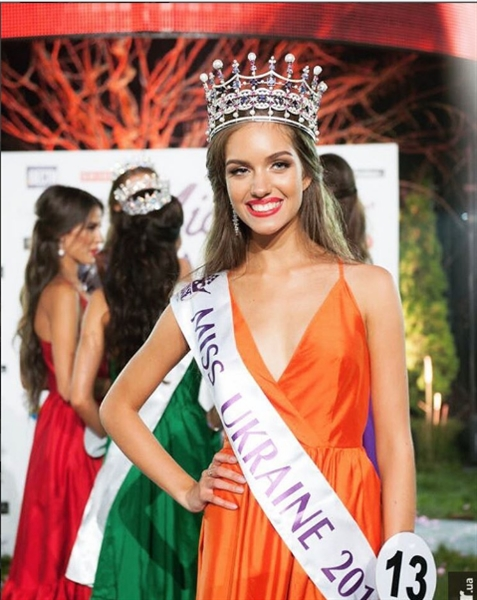 Alexandra Kucherenko là cô gái đã may mắn được vinh danh trong đêm chung kết và trở thành tân Hoa hậu Ukraine 2016.