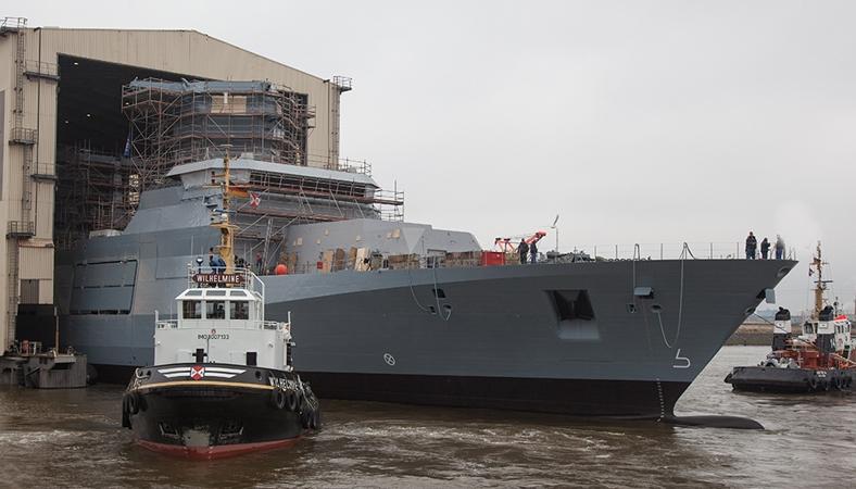 Ngoài ra hình dáng góc cạnh nhằm giảm bộc lộ tín hiệu radar, vật liệu chế tạo tiên tiến... khiến chiếc chiến hạm này rất khó bị phát hiện bởi các phương tiện trinh sát điện tử, hồng ngoại cũng như âm thanh của đối phương. Chiến hạm Type 125 có chiều dài 149m, chiều rộng 18,8m.
