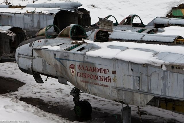 Các tiêm kích MiG-31 được đưa tới đây đã bị tháo bỏ cánh, động cơ, nắp chụp radar, cùng nhiều bộ phận khác.