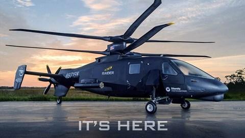 S-97 Raider được thiết kế dựa trên mẫu trực thăng Sikorsky X2 sử dụng rotor đồng trục với 4 cánh quạt cho mỗi rotor. Đây là mẫu máy bay đa năng có thể thực hiện nhiều nhiệm vụ như trinh sát, hỗ trợ đổ bộ đường không hay đóng vai trò như một trực thăng tiến công hạng nhẹ.