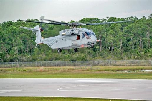 CH-53K có chiều dài lên tới 30,2m, cao 8,46m, trong đó phần cabin có chiều dài 9,14m, rộng 1,98m. Kích cỡ cabin rộng và lớn hơn 15% so với mẫu cũ CH-53. Tải trọng của trực thăng vận tải CH-53K lên tới 15,9 tấn (trong khi CH-53E chỉ là 13,6 tấn) đưa nó trở thành trực thăng vận tải lớn nhất của Quân đội Mỹ hiện nay.
