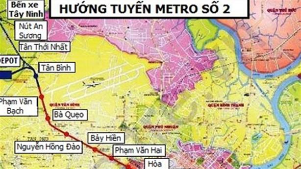 TP.HCM: Metro số 2 Bến Thành-Tham Lương lại xin đội vốn