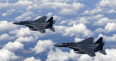 Tiem kich F-15K Han Quoc bi roi 'co lien quan' toi THAAD?