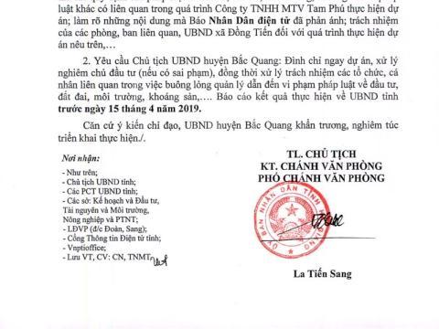 Ha Giang dung du an nuoi lono khu vuc co vang