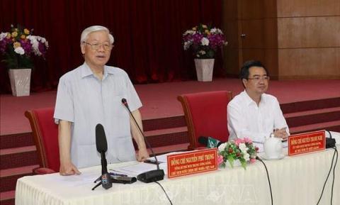 Tong Bi thu, Chu tich nuoc NguyenPhu Trong tham Kien Giang