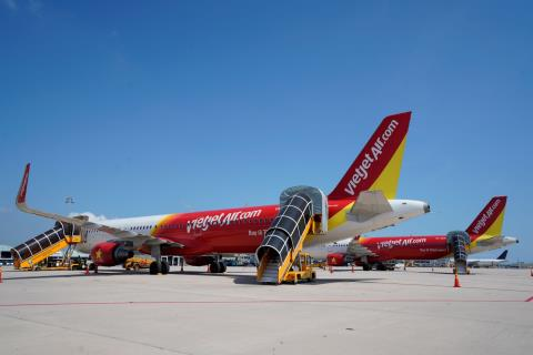 Ty trong doanh thu quoc te Vietjetdat55% trong quy I/2019