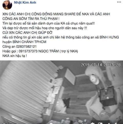 Ca si Nhat Kim Anh bi trom 5 ty: Diem ban khoan
