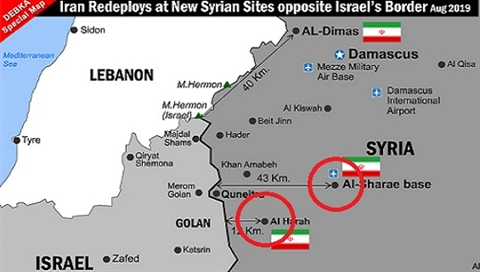 Israel lo lang, so Iran mo 'mat tran thu hai' o Syria