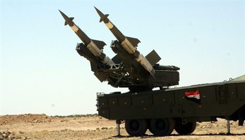 Syria danh chan ten lua Israel ban vao noi dat S-300