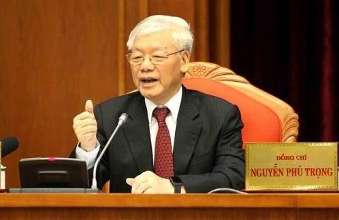 Tong Bi thu Nguyen Phu Trong ky Nghi quyet 50