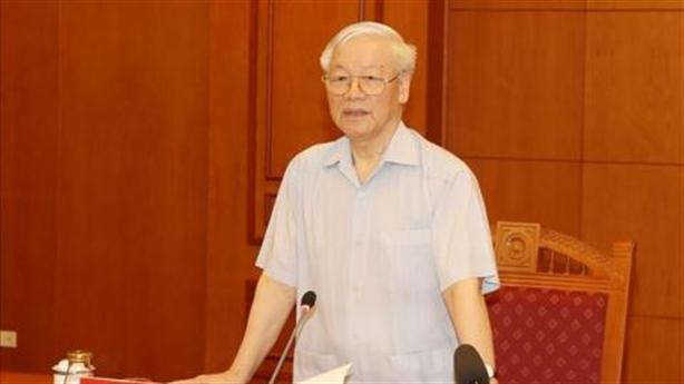 Tổng Bí thư Nguyễn Phú Trọng họp Tiểu ban Văn kiện