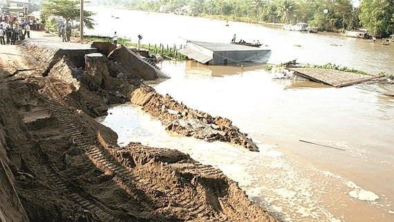 Đồng bằng sông Cửu Long chỉ cao hơn nước mực biển 0,8m