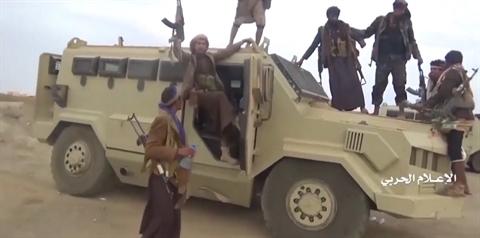 So phan nhung xe thiet giap Saudi Arabia bi Houthi thu giu