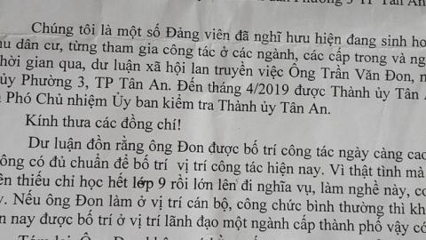 Pho Chu nhiem UBKT khong co bang THPT: 'Toi hoc gioi'