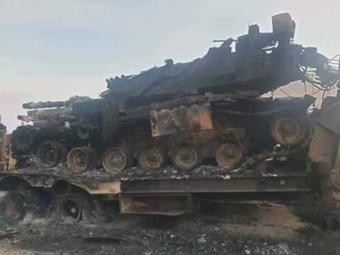 Xe tăng của Thổ Nhĩ Kỳ bị SAA phá hủy tại Idlib.