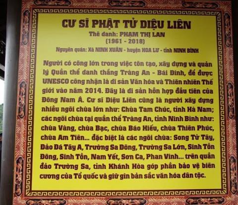 Chudoanh nghiepxay den tho vo trong chua Tam Chuc