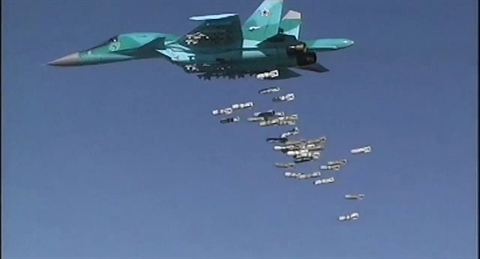 Su-34 huy diet 3 to hop MLRS Tho dinh tan cong Hmeimim?