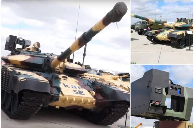 Ngoài ra, hệ thống vũ khí chính của T-72 với gói nâng cấp mới vẫn là pháo nòng trơn 125mm 2A46 cùng súng máy đồng trục PKT 7.62mm, trong khi đó súng máy phòng không NSV 12.7mm trên tháp pháo của T-72 được nâng cấp trở thành tổ hợp vũ khí tự động điều khiển từ xa và được đặt lùi về phía sau tháp pháo ngay vị trí chỉ huy xe.