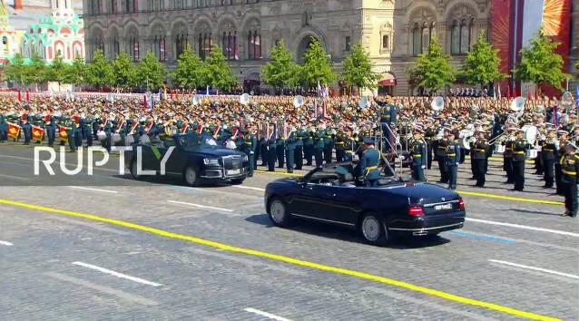 Cuộc diễu binh bắt đầu lúc 10h ngày 24/6 theo giờ Moskva (14h Việt Nam) trên Quảng trường Đỏ ở Moskva.