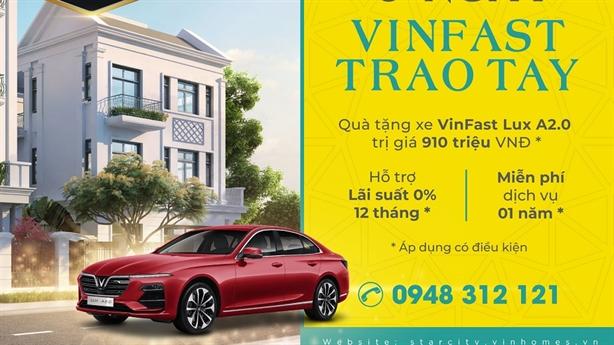 Vinhomes Star City Thanh Hóa tặng xe VinFast cho khách mua nhà