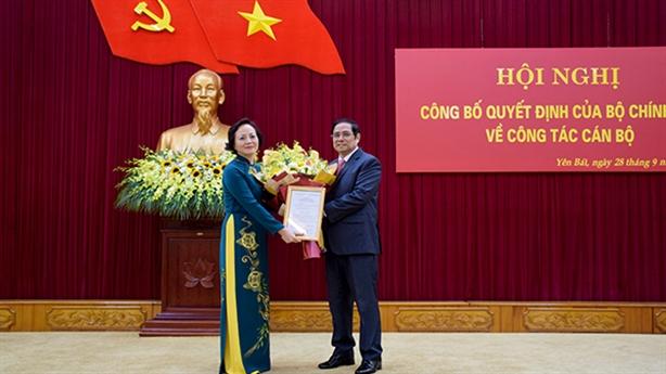 Bà Phạm Thị Thanh Trà làm Phó Ban Tổ chức Trung ương