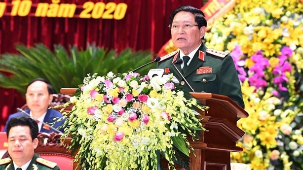 Đại tướng Ngô Xuân Lịch dự Đại hội Đảng bộ Hà Giang