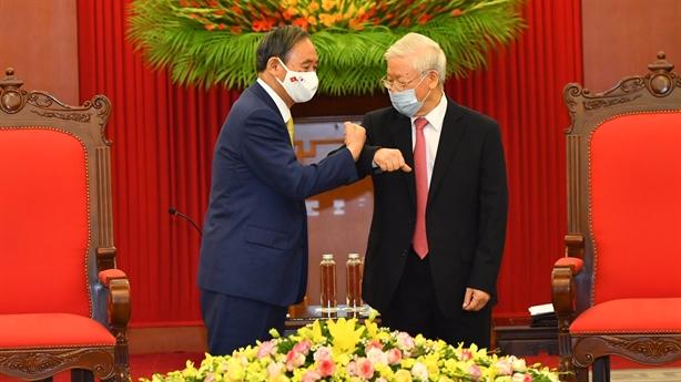 Tổng Bí thư, Chủ tịch nước tiếp Thủ tướng Nhật Bản