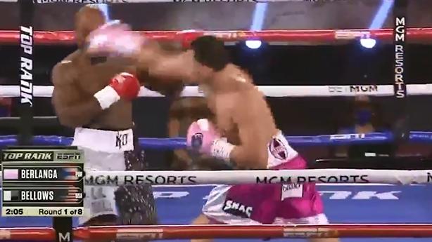 Võ sĩ Mỹ hạ knock-out đối thủ bằng seri đòn