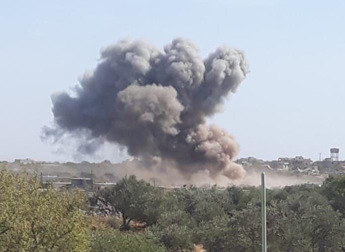 Đợt không kích mới nhất được chiến đấu cơ của VKS thực hiện nhằm vào vùng ngoại ô thị trấn al-Magarah ở vùng nông thôn phía nam Idlib. Cùng với đó 3 trận không kích khác cũng đã dội vào vùng ngoại ô của thị trấn al-Rami.