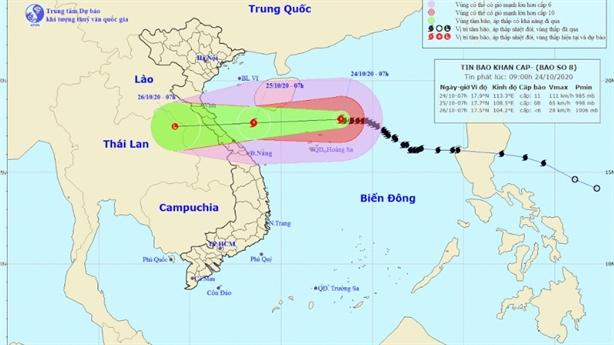 Bão giảm cấp khi vào vùng biển Hà Tĩnh - Quảng Bình
