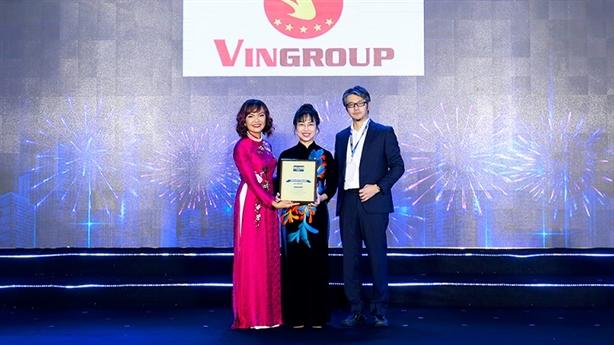 Vingroup nhận giải 'nơi làm việc tốt nhất năm 2020'